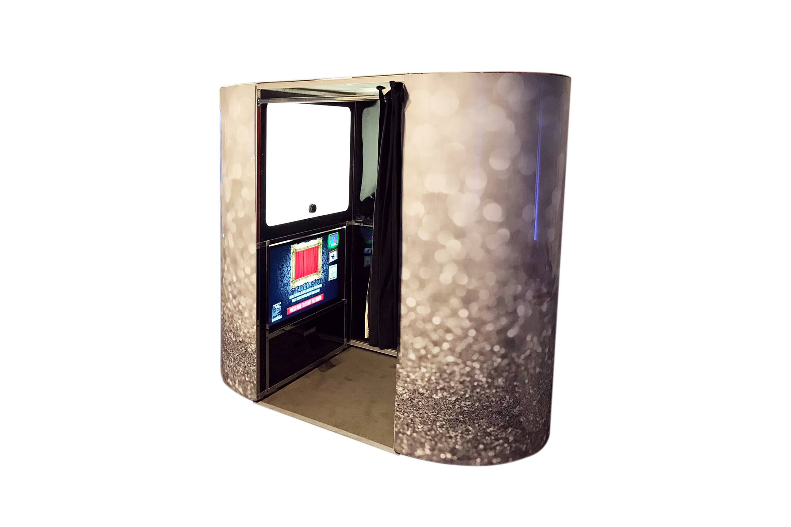 glitzy exterior photo booth